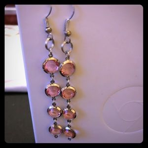 Pink Drop Earings
